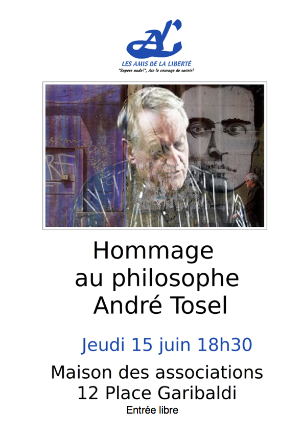 affiche hommage André Tosel